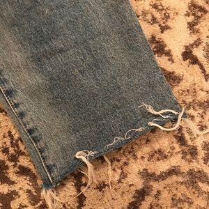 GAP Jeans - Wide straight leg ripped jeans